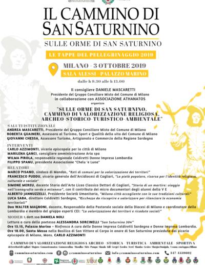 Le tappe del Cammino di San Saturnino 2019 - Eventi Milano