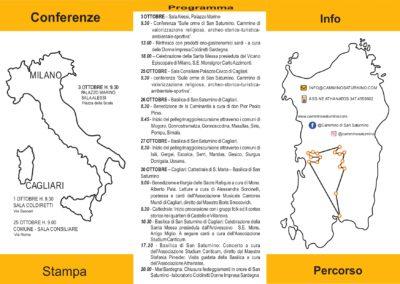 Cammino Saturnino 2019 - Programma